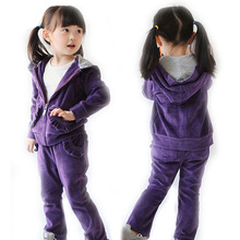 Girls Clothing Sets Velvet Sports Suits For Girls Clothing Children Sports Wear Spring Autumn Kids Tracksuits 3-4 Years