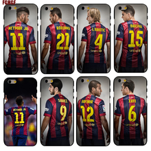 For Iphone 4 4s 5 5s se 6 6s plus 7 7plus 8 8plus x Neymar Jr For Barcelona back Hard Phone Case Cover (hard case)(China)
