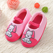 Mntrerm Kids Slippers Children Home Slippers Girls Warm Winter Shoes Boys Indoor House Bedroom Baby Soft Flats Animal Dog