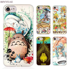 BINYEAE Studio Ghibli Ghiblies totoro Clear Cell Phone Case Cover for Apple iPhone 4 4s 5 5s SE 5c 6 6s 7 Plus(China)