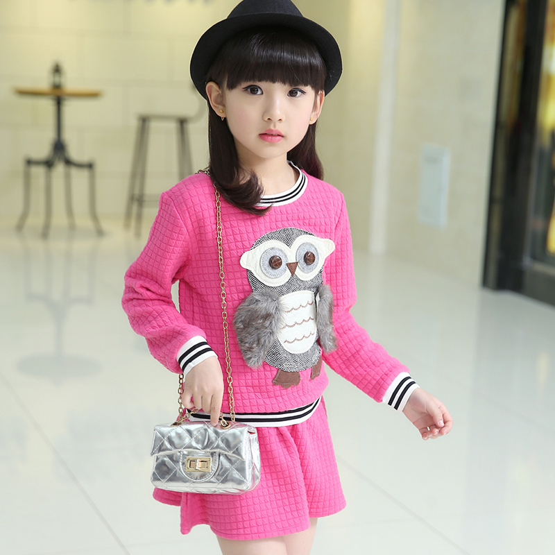 2017 fashion Childrens clothing Set Spring and autumn Cotton products Long sleeves Skirt suit Two-piece suit   4 colors<br><br>Aliexpress