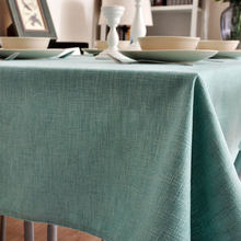 Pastoral Fresh  Pure color Linen Table Cloth Wedding Dining Tablecloth   Coffee Restaurant Cloth Cover