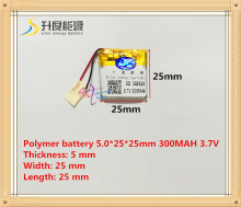 502525 052525 300mah 3.7V lithium-ion polymer battery MP3 MP4 GPS quality goods quality of CE FCC ROHS certification authority