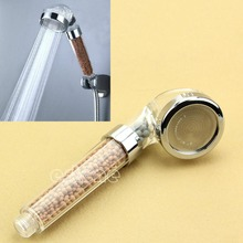Healthy 4 in1 Germanium,FIR,ION Shower Head Filter Water Ionizer Removes Chlorine #D7730#(China)