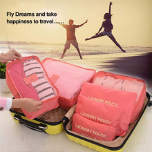 TTLIFE 6pcs Laundry Pouch Travel Storage Bag Multi-functional Portable Travel Luggage Suitcase Packing Cubes Bag(China)