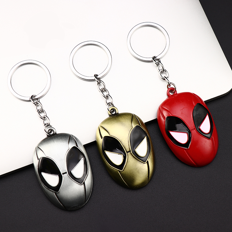 Metal Marvel Avengers Captain America Shield Keychain Spider man Iron man Mask Keychain Toys Hulk Batman Keyring Key Gift Toys (81)