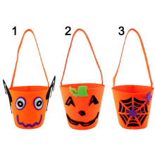 1Pc Halloween Pumpkin Bag Kids Child Candy Bags Basket Non-woven Fabrics Gifts Holder Halloween Wedding Supply 2017ing(China)