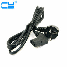 Free Shipping Europe EU plug Flat Nema 5-15P to IEC C13 Left Angled Power Cord for LCD LED Wall Mount TV 5ft 1.5m