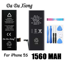Original Da Da Xiong Battery For Apple iPhone 5C 5S 5GS 1560mAh Real Capacity With Machine Tools Kit Replacement Batteries(China)