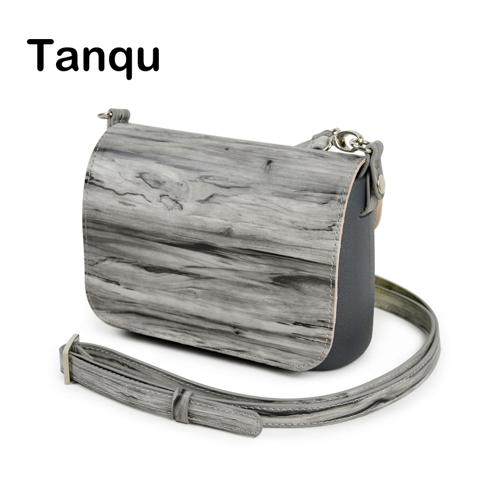 TANQU New Set Wood Grain Opocket Style Small EVA Pocket Plus Leather Flap Long Adjustable Belt with Clip Closure Attachment OBag<br>