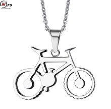 "NFS Drop Ship Punk Men's Bike Necklace Stainless Steel Bicycle Necklaces & Pendants Free Chain 20""(China)"