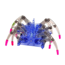 Electric Spider Robot DIY Assemble Toys Kits Kids Intelligent Development Educational Toys Boys Girls Assembling Building Puzzle(China)
