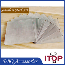 10pcs/lot Stainless Steel Net BBQ Accessories Meshes Only for Charcoal Grill  Strainer Filter