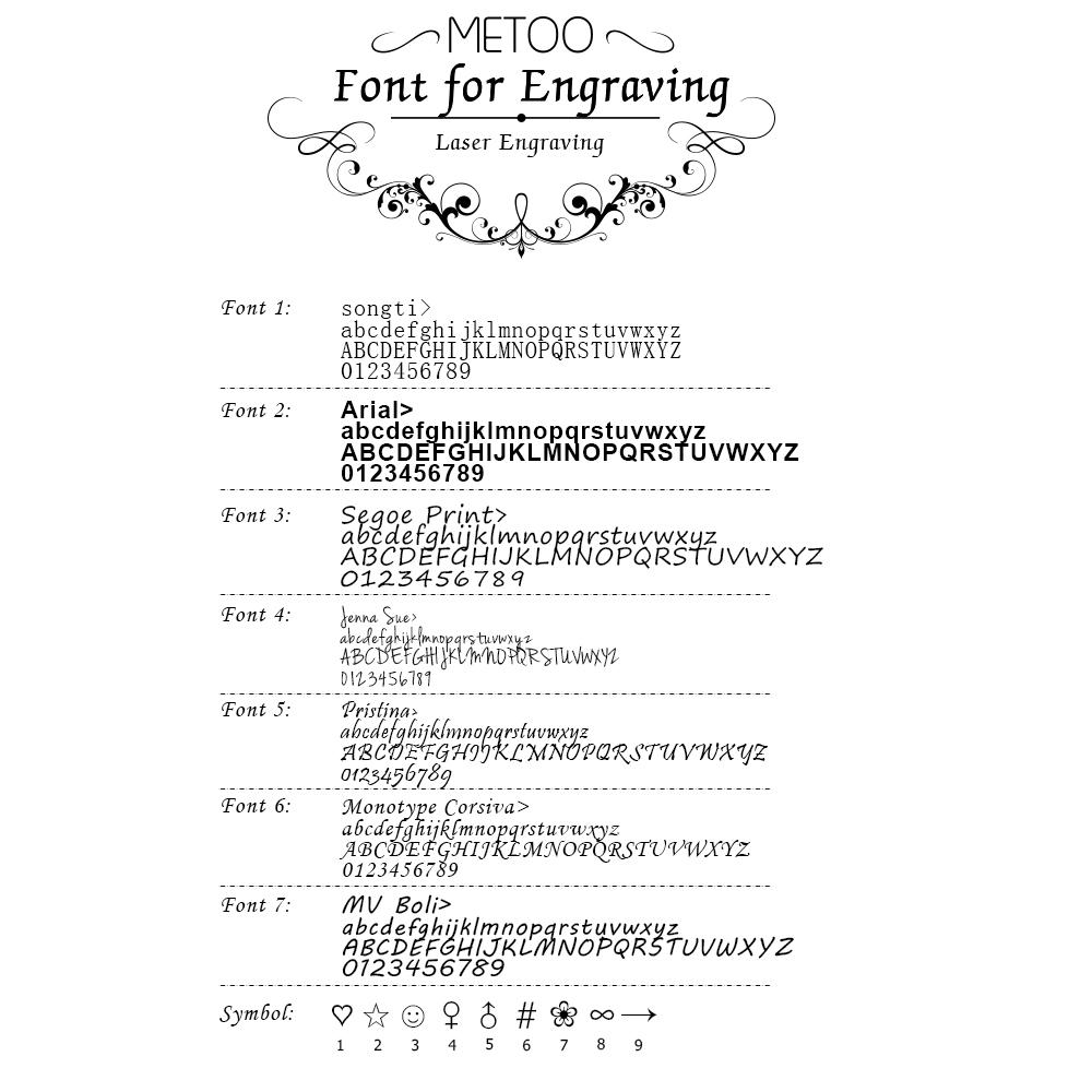 Engraving font