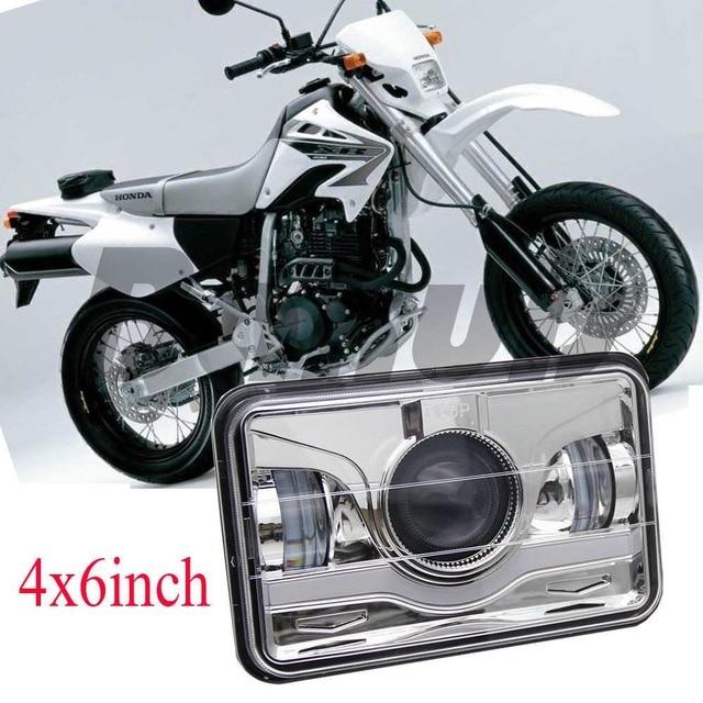 45W 4x6 INCH LED Headlight DOT for Honda XR250 XR400 XR650 Suzuki DRZ Motocycle