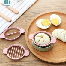 JOINHOT-Wheat Straw Egg Cutter Split Device Food Divider Slicer Egg Slicer Gifts High Quality 4 colors(China)