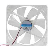 14 x 14cm Red LED PC Cooling Fan Computer Clear Case 7-Blade CPU 12V 4pin Computer PC Case Cooler CPU Cooling LED Fan(China)