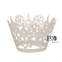 Big Sales! Ivory Laser Cut Flower Cupcake Wrapper Liner Muffin Cake Tool Cup Cake Paper Baby Shower Wedding Party Decor