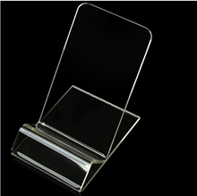 Universal Acrylic Cell phone mobile phone Display Stands Holder stand For iphone/samsung/LG/Sony Clear Hard PC Plastic 500PCS