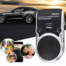 Xiamelon Solar Powered Speakerphone Car MP3 Wireless Bluetooth 4.0 Car Kit for Mobile Phone Calling Handsfree Device for Car(China)
