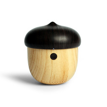 JS Bluetooth Speaker Portable Mini Cute Wooden Nut Shape Unique Outdoor Loudspeaker Funny Gifts Soundbox for Phone Backpack pc