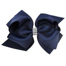 Buy 6 Inch 2 Layer Luxury Rhinestone Bowknot Children Grosgrain Ribbon Bow Hair Clips Hairpin Flower Girl Headwear Hair Accessories for $1.15 in AliExpress store