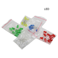 Red, green, yellow,white and blue of the light-emitting diode LED KIT 3MM 5MM 100PCS  for arduino for raspberry pi