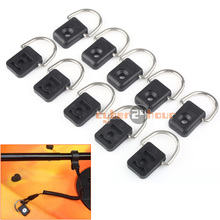 High Quality 10pcs Canoe Kayak D Ring Outfitting Fishing Rigging Bungee Kit Accessory Black Free Shipping!