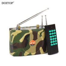 DOITOP Camouflage 1000M Wireless Remote Control Outdoor Teaching Loudspeaker Camping Sound Speaker Voice Amplifier MP3 Player(China)