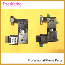 Original For Motorola Moto G2 XT1068 XT1069 Sim Card Holder Micro SD Memory Socket Slot Tray Flex cable(China)