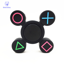Tri-Spinner Fidget Toy alloy EDC Hand SpinnerPlastic game handle styling For Autism and  Rotation Time Long Anti Stress Toys