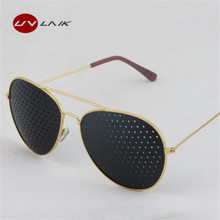 New Fashion Retro Pinhole Sunglasses for Women Men Small Holes Eyeglasses Vision Care Glasses Unisex Eyesight Improver Glasses