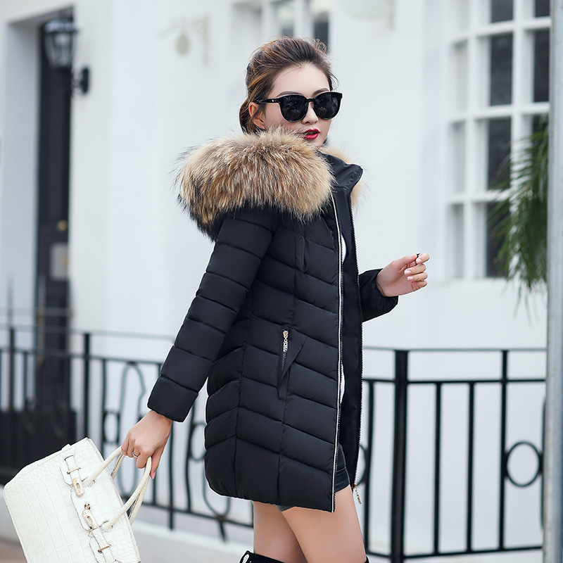 2017 New winter jacket women Fake fur collar down wadded jacket female cotton-padded jackets thickening women winter coatÎäåæäà è àêñåññóàðû<br><br>