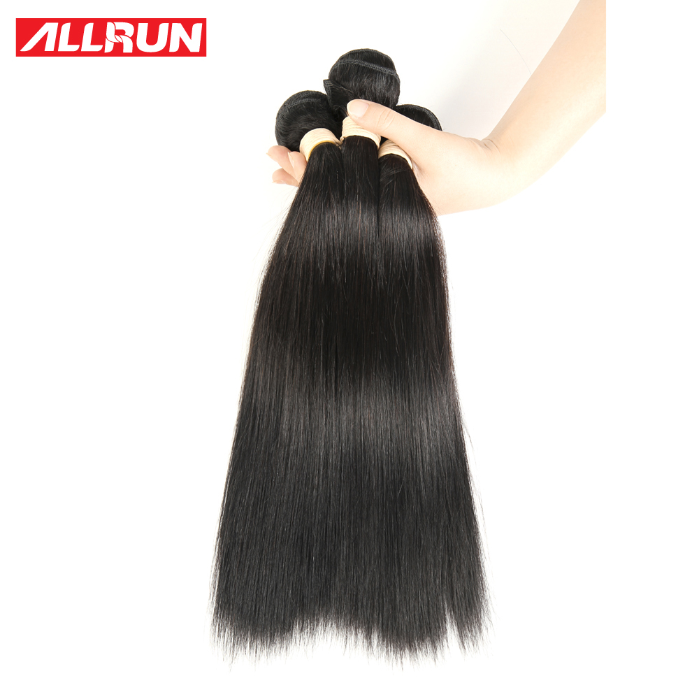 5 Pcs Indian Straight Hair Cheap Allrun Human Hair Bundles Indian Virgin Hair 8A Grade Virgin Unprocessed Human Hair<br><br>Aliexpress