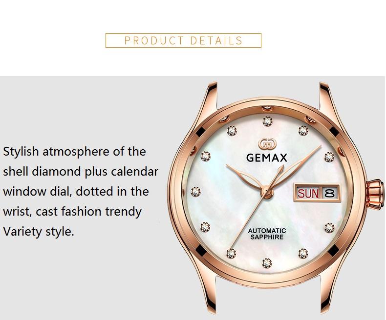 GEMAX Women Watches Waterproof Automatic Mechanical Watch Ladies Fashion Top Brand Diamond Calendar Ceramic Sapphire MIYOTA 2017 (12)