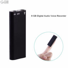 Digital Voice Recorder 8GB USB Flash Drive Multifunctional Rechargeable Mini Audio Recording Device with MP3 Player Dictaphone(China)
