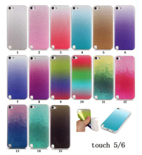 Fashion Glitter Gradual Change Soft Silicone IMD TPU Case for Apple iPod touch 5 /6 /itouch 5 6 Sparkle Bling cover phone cases(China)