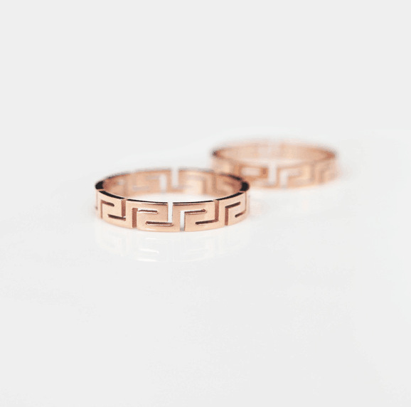 Great wall ring female titanium rose gold color gold lovers ring wedding ring pinky ring jewelry(China (Mainland))