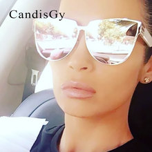 Cat Eye Famous New Brand Designer Good Quality Fashion Sunglasses Men Women Mirror Cool Lady Female Trend Coating Sun glasses