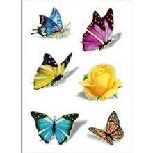2017 Rushed Sale 1 Sheets Women's 3d Colorful Waterproof Body Lip Art Sleeve Diy Stickers Glitter Temporary Tattoos Taty