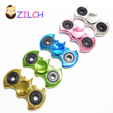 Buy 5 Color Gold Plating Bat Shape Chrome Fidget Toy Hand Spinner Autism ADHD Rotation Stress Relief Toys Gift for $2.45 in AliExpress store