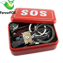 Outdoor equipment emergency bag field survival box self-help box SOS equipment for Camping Hiking Multi Tools