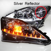 Chrome Housing light for Lexus IS250 LED Head Lamps with Projector Lens 2006-2010 Silver Reflector