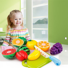 8PC Cutting Fruit Vegetable Pretend Play Children Kid Educational Toy Hot High Quality Dropshipping Free Shipping M14