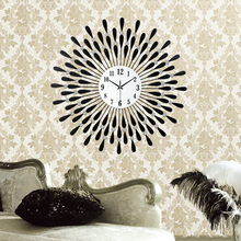 Clock wall clock modern brief personalized rustic fashion clock mute quartz clock(China)