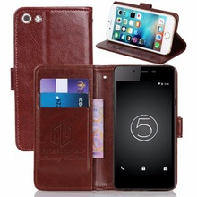 GUCOON Vintage Wallet Case for Micromax Canvas Sliver 5 Q450 PU Leather Retro Flip Cover Magnetic Fashion Cases Kickstand Strap