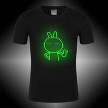 CIP Brand Clothing 2017 New T Shits Men Short Sleeve Spring Summer 100% Cotton O Neck Slim Fit Cartoon Rabbit Men's T-shirts(China)