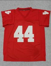 SexeMara American Football Jersey Forrest Gump #44 Football Jersey Stitched Tom Hanks Movie Red Cheap Throwback Breathable