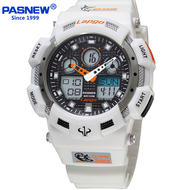 Pasnew Sports Chronograph Mens Wrist Watches Digital and Quartz Men Military Diving Watchband Top Luxury Brand Male Clock 2016<br><br>Aliexpress