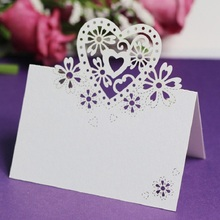 12 pcs Table Number Card Hollow Heart Shape Decor for Wedding Party Table Place Number Card Wedding Banquet Table Decoration